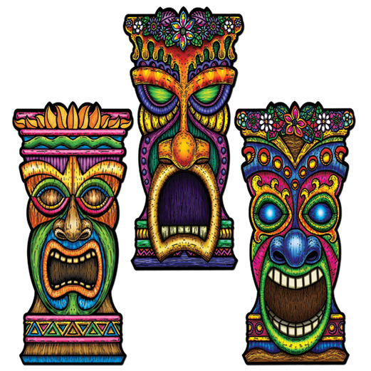 Luau Decorations Tiki Cutout Image