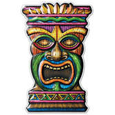 Luau Decorations Tiki 3-D Plastic Cutout Image