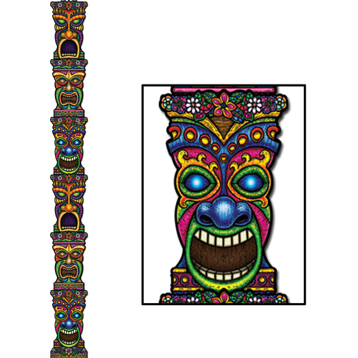 Luau Decorations Jointed Tiki Totem Pole Image