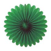 Decorations Green Mini Tissue Fans Image