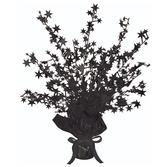 New Years Decorations Black Starburst Centerpiece Image