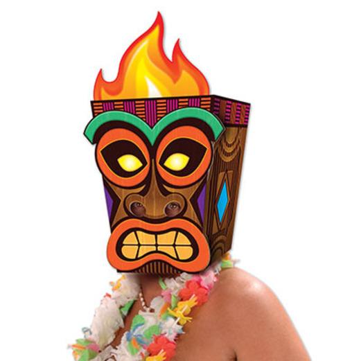 Luau Party Wear Jumbo Tiki Mask Image