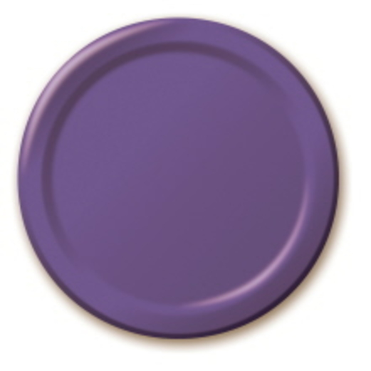 Mardi Gras Table Accessories Purple Dessert Plates Image