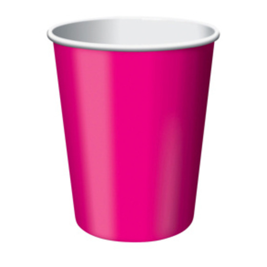 Valentine's Day Table Accessories Hot Pink Cups Image