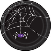 Halloween Table Accessories Spider Web Dessert Plates Image