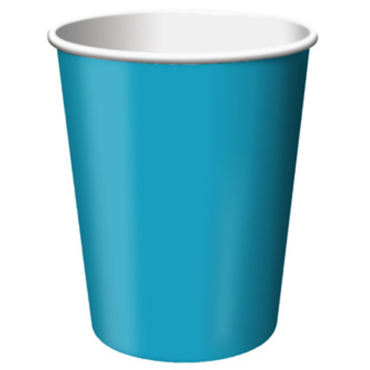 Table Accessories Turquoise Paper Cups Image