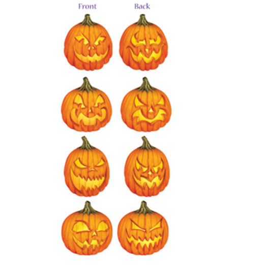 Halloween Decorations Scary Jack O' Lantern Cutouts Image