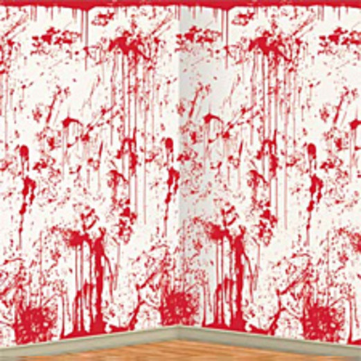 Halloween Decorations Bloody Wall Backdrop Image