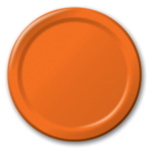Halloween Table Accessories Orange Dinner Plates Image