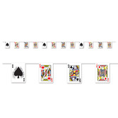 Casino Decorations Playing Card Pennant Banner Image