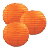 Halloween Decorations Orange Paper Lanterns Image