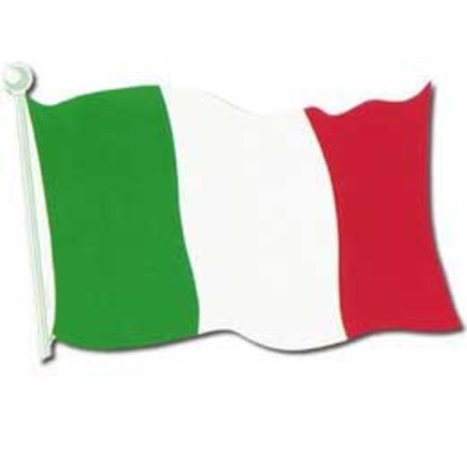 "International Decorations 18"" Italian Flag Cutout Image"