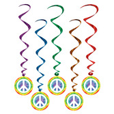 60s & 70s Decorations Peace Sign Whirls Image