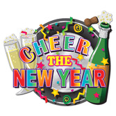 New Years Decorations Foil Happy New Year Sign Image