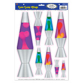 60s & 70s Decorations Lava Lamp Glass Clings Image