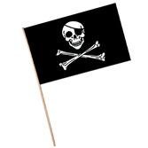 "Pirates Decorations 11""x17"" Pirate Plastic Flags Image"