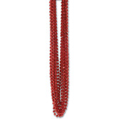 Valentine's Day Party Wear Red Metallic Bead Necklaces Image
