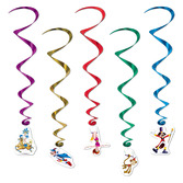 Birthday Party Decorations Circus Whirls Image