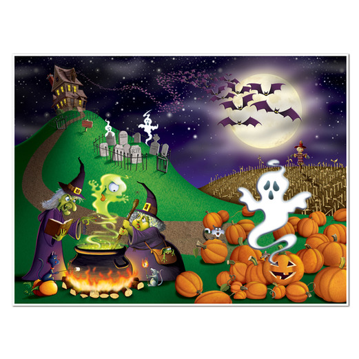 Halloween Decorations Halloween Mural 5'x6' Image