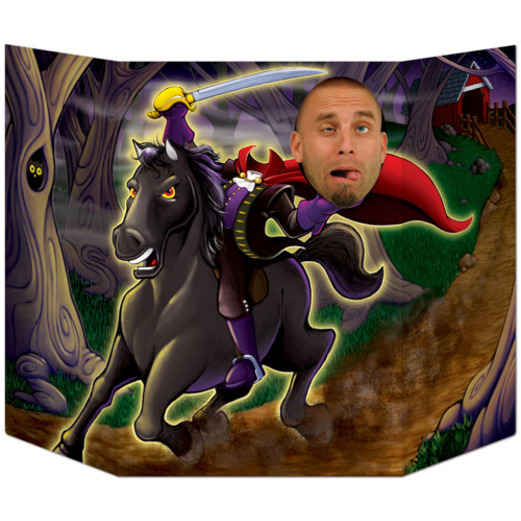 Halloween Decorations Headless Horseman Photo Prop Image