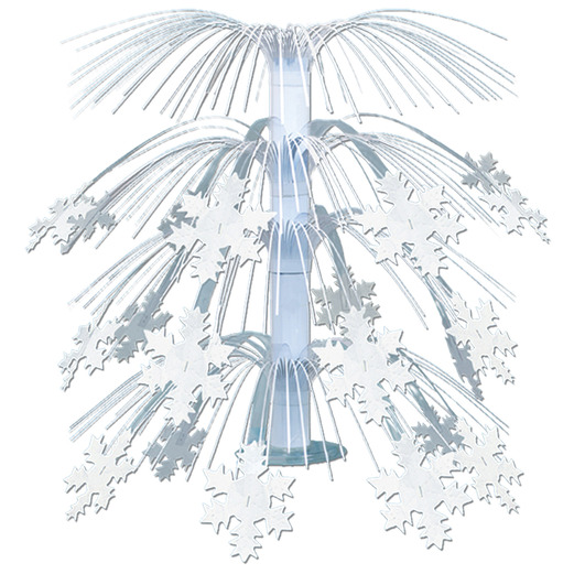 Christmas Decorations Snowflake Cascade Centerpiece Image