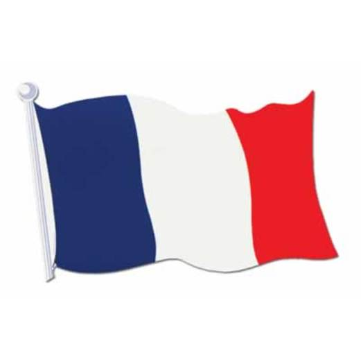 "International Decorations 18"" French Flag Cutout Image"