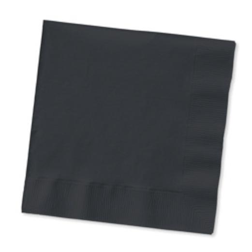 New Years Table Accessories Black Beverage Napkins Image