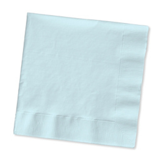 Baby Shower Table Accessories Light Blue Beverage Napkins Image
