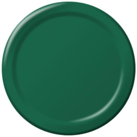 Mardi Gras Table Accessories Hunter Green Dessert Plates Image