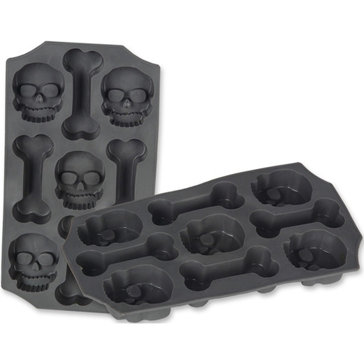 Halloween Decorations Skull and Bones Ice Mold Image