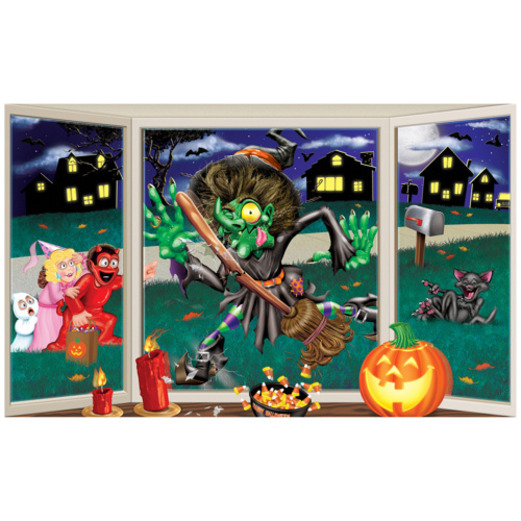Halloween Decorations Crashing Witch Insta View Image