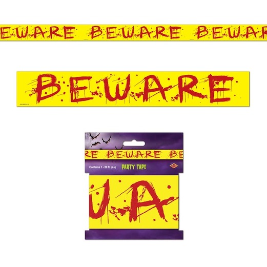 Halloween Decorations Beware Party Tape Image