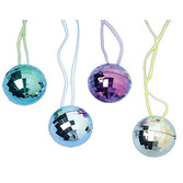 60s & 70s Party Wear Disco Ball Necklace Image