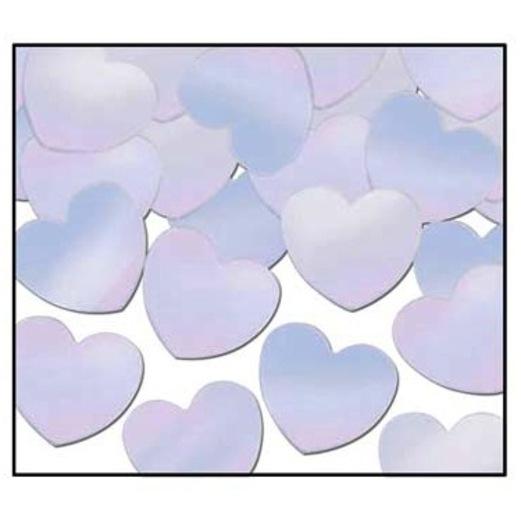 Valentine's Day Decorations Iridescent Hearts Confetti Image