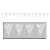 Winter Wonderland Decorations Snowflake Pennant Banner Image