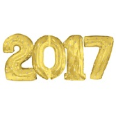 New Years Balloons Gold 2017 Jumbo Mylar Balloons Image