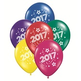 New Years Balloons 2017 Multicolor Balloons Image