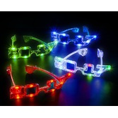 New Years Hats & Headwear 2017 Multicolor LED Flashing Glasses Image