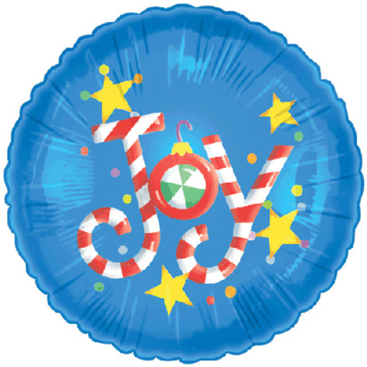 Christmas Balloons Candy Joy Mylar Balloon Image