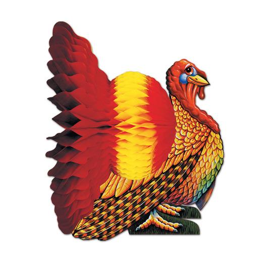 "Thanksgiving Decorations 12"" Turkey Centerpiece Image"