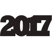 New Years Decorations Black 2017 Cutout Image