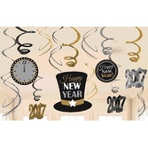 New Years Decorations 2017 Swirl Decorations Value Pack Image