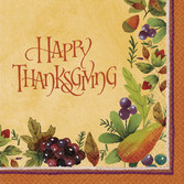 Thanksgiving Table Accessories Thanksgiving Medley Luncheon Napkin Image