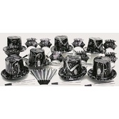 New Years Party Kits Silver Ebony for 10 Image