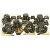 New Years Party Kits Gold Ebony for 10 Image