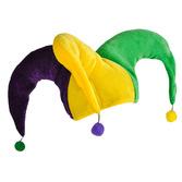 Mardi Gras Hats & Headwear Mardi Gras Pom Pom Jester Hat Image