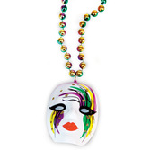 Mardi Gras Party Wear Mardi Gras Mime Bead Necklace Image