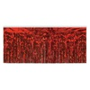 Amols red metallic fringe skirt