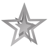 Awards Night & Hollywood Decorations Silver 3-D Foil Hanging Star Image
