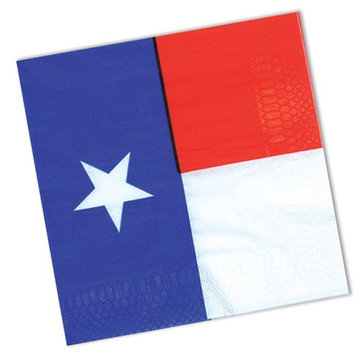 Western Table Accessories Texas Flag Beverage Napkins Image